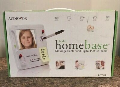 Audiovox Audio Home Base Message Center Digital Picture Frame DPF710K (Home Base Video)