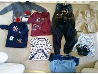 Boy clothes bundle 18-24 months incl Christmas tops