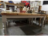 6' Foot Shabby Chic Farmhouse Rustic Pine Dining Kitchen Table Delivery