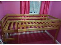 Single pine bunk bed