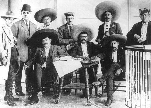 Emiliano Zapata Salazar Mexican Revolution with Brother & Staff 5x7 Photo