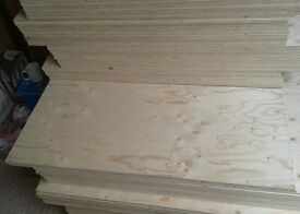 25 Pieces of NEW Spruce Plywood. 15mm x 48in x 21in (1220mm x 530mm)