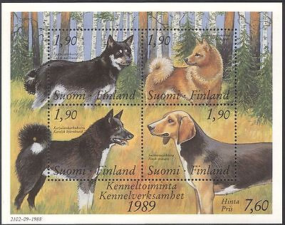 Finland 1987 Working Dogs/Animals/Nature/Pets/Kennel Club 4v m/s (s338)