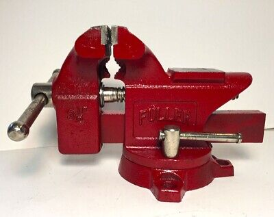 Vintage Fuller 3 12 Inch Bench Vise With Swivel Base And Anvil