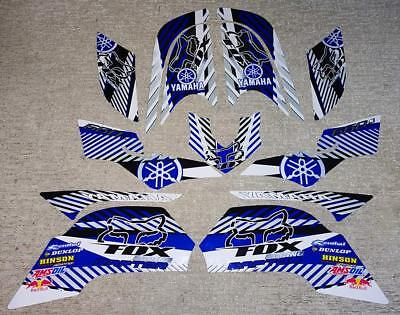 Yamaha Raptor Blue/White/Silver Decals Stickers Quad Graphics 13pc kit 2001 2005 for sale  Akron