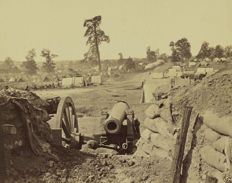 Confederate fort on Peachtree Street in Atlanta Georgia New 8x10 Civil War Photo