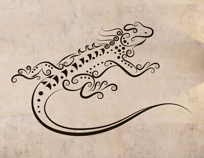 - Vinyl Sticker Lizard Monitor Tattoo Ornament Mural Decal Wall Art Decor hi368