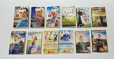Big Lot of 12 Paperback Amish Love Inspired Romance Books