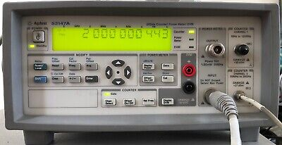 Agilent 53147a 20 Ghz Microwave Frequency Counter Power Meter Dvm