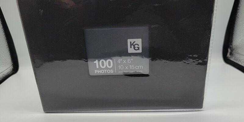 "kieragrace Album-Holds 100 4"" x 6"" Photos, Black NEW"