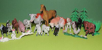 Bauernhoftiere  Bauernhof Nutztiere Hoftiere Tiere Set 22 Teile Neu&OVP