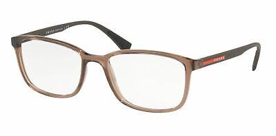 Prada Damen Rechteckig Brille PS04IV WAH1O1 Braun Rahmen Demo Anpassen Linse