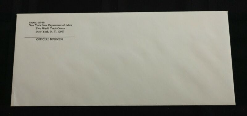 Pre 9/11 World Trade Center Envelope New York State Department of Labor