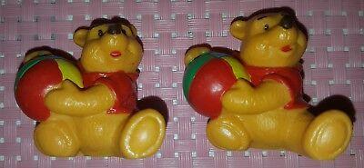 2x alte *WINNIE POOH*Bär Figuren Disney Bully 1980 sehr gut erhalten/4.5 cm/ rar