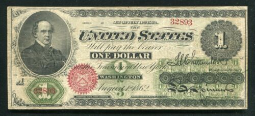 FR. 17a 1862 $1 ONE DOLLAR LEGAL TENDER UNITED STATES NOTE VERY FINE