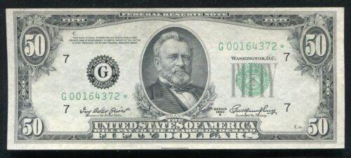 FR. 2108-G* 1950-A $50 *STAR* FRN FEDERAL RESERVE NOTE CHICAGO, IL XF+