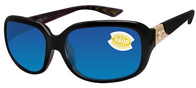 COSTA DEL MAR GANNET POLARIZED SUNGLASSES BLACK/BLUE 580P LENS GNT132 OBMP