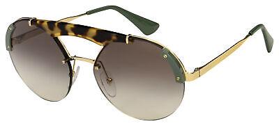 Prada Sunglasses PR 52US SZ60A7 37 Silver/Havana Frame | Grey Gradient Lens