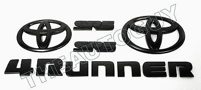 2014 2015 2016 2017 TOYOTA 4RUNNER SR5 MATTE BLACK OVERLAY 11 PC EMBLEM PACKAGE
