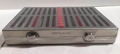 Dental Surgical 10 Instruments Sterilization Cassette Holder Case Red -fda