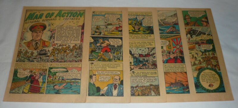 1941 nine page cartoon story ~ GENERAL BERNARD C FREYBERG
