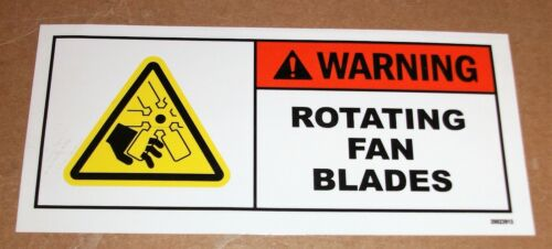 """SAFETY LABEL WARNING ROTATING FAN BLADES ADHESIVE DECAL STICKER 5-1/2"""" X 2-1/2"""""""