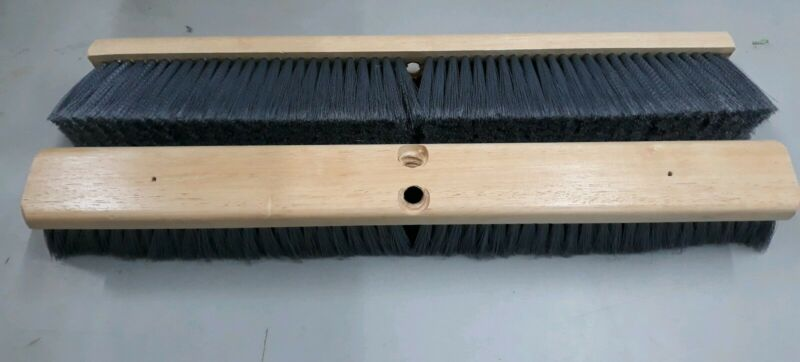"LOT 2 BOARDWALK 20424 FLOOR BROOM BRUSH HEAD 24"" GREY FLAGGED POLYPROPYLENE 3"""
