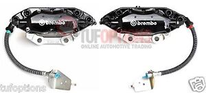 BLACK Ford FPV Brembo FG 4 Piston REAR Caliper Set With Pads (Will Fit BA to BF)