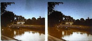 Plaque-photo-stereoscopique-photographie-Peniche-sur-la-Garonne-vers-1920