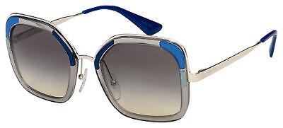Prada Sunglasses PR 57US LMD130 54 Transparent/Silver | Grey Gradient Lens