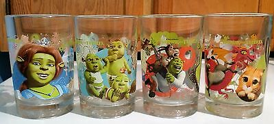 2007 McDonald's Shrek The Third Drinking Glasses - Complete Set of 4 Glasses