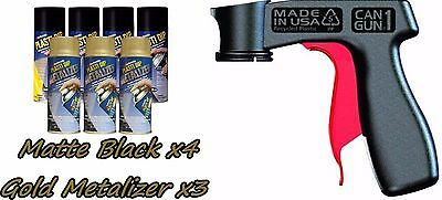 Performix Plasti Dip Premium Wheel Kit 4 Matte Black3 Gold Metalizer Cans V-grip