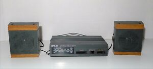 EPX-90 MINI COMPONENT PORTABLE AM/FM STEREO RECEIVER VINTAGE RARE  SPEAKERS LOT