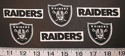 Nfl Team Fabric - Raiders Oakland Las Vegas NFL Team Fabric Iron On Applique Patch NO SEW Craft w