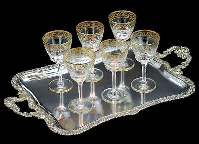 Oertel Haida - 6 x (Satz) Kristall Wein Glas - wie St. Louis - Spitzen Qualität!