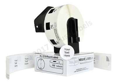 1 Roll Dk 1218 Brother Compatible 1 Round Labels With 1 Reusable Cartridge