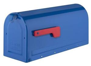 NEW Architectural Mailboxes 7600BE Blue with Red Flag MB1 Condition: New