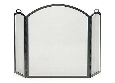 Achla Minuteman Arched Three-Part Folding Fireplace Spark Guard Screen SSS-05