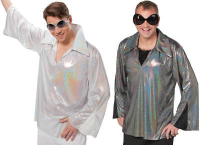 Discohemd Glitzerhemd 70er und 80er Jahre Party Karneval Kostüm (60 Und 70 Kostüme)