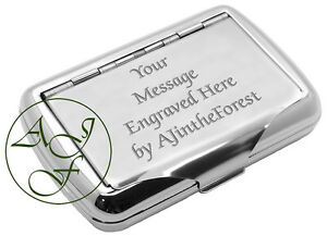 Personalised Tobacco Tin YOUR MESSAGE ENGRAVED FREE