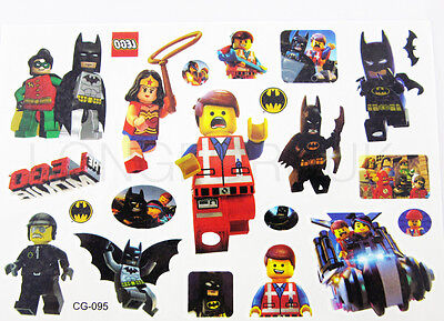 LEGO BATMAN Temporary Tattoo Sheet Children Kids Party Bag Filler SUPER HERO