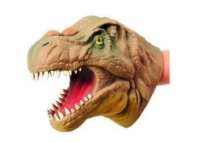 THRILLING T-Rex Dinosaur Hand Puppet (Single) Stretchy SOFT Dino Party Creature - Dinosaur Hands