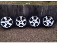 "17"" 4x108 Peugeot Citroen alloy wheels with tyres 307 206 207"