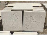 2x2 straight edge concrete paving slabs