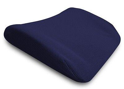 cuscino guanciale lombare memory foam da viaggio schiena da seduta blu auto