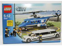 Lego City 3222 Helicopter & Limousine. 100% complete good quality Lego. Comes
