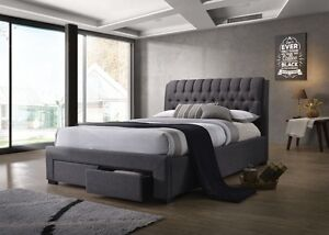 Kick Queen Bed Frame-- DARK  GREY ONLY.. LIMITED STOCK Birkdale Redland Area Preview