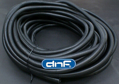"100 FT 5/8"" SPLIT WIRE LOOM POLYETHYLENE TUBING CABLE CONDUIT 100 FEET 5/8"""