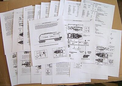 Lionel Pw 1946-53 2466wx,671w,2020-6020w Whistling Tender Service Manual