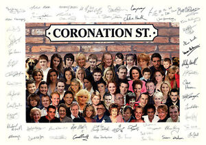 CORONATION STREET CAST 04 SIGNED PHOTO PRINT